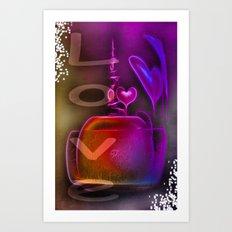 Love on Ice 2 Art Print