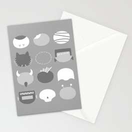 Old School Minimalist Movie Monsters Stationery Cards