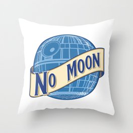 No Moon Brewery Throw Pillow