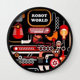 Robot World Wall Clock