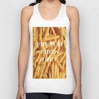 french fries Tank Tops featuring French Fries Diet by Coconuts & Shrimps