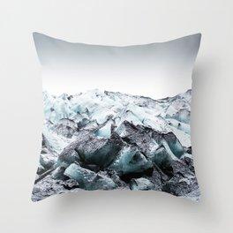 Edge of a Glacier Throw Pillow