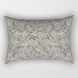 Silver Tropical Print Rectangular Pillow