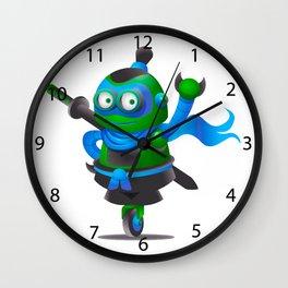 cartoon ninja robot. Wall Clock