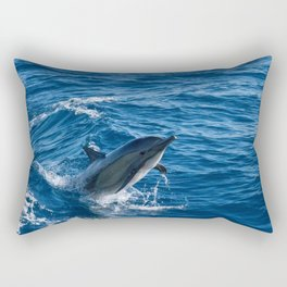Dolphin jump Rectangular Pillow