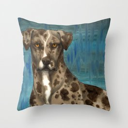 Catahoula Blues Throw Pillow