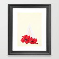Floral Triangle Framed Art Print