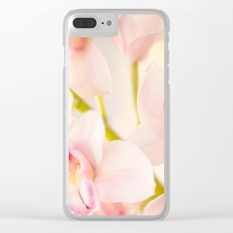 Orchid Flower Bouquet On A Light Background #decor #society6 #homedecor Clear iPhone Case
