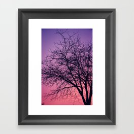 Purple Peach Sunset Framed Art Print