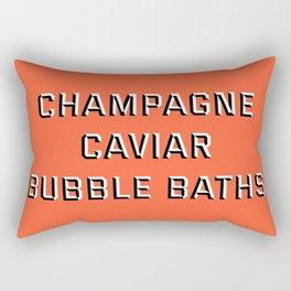 CHAMPAGNE CAVIAR BUBBLE BATHS Rectangular Pillow