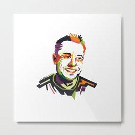 Elon Musk on WPAP Metal Print