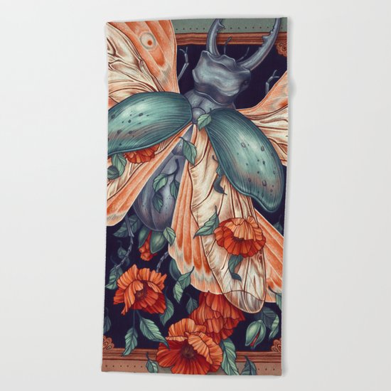 Moth Beetle Beach Towel