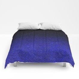 Blue & Black Glitter Gradient Comforters