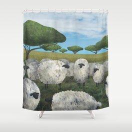 greener pasture Shower Curtain