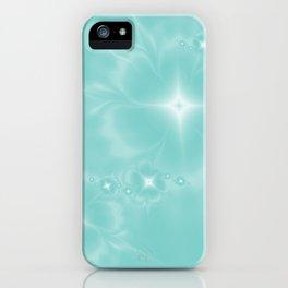 Fleur de Nuit in Aqua Tone iPhone Case