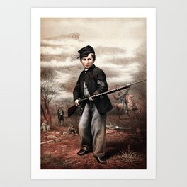 Union Drummer Boy John Clem Art Print
