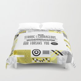 Be Strong and Courageous Duvet Cover