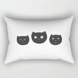 Cat Faces Rectangular Pillow