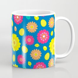 Easter Flower Power Pattern Coffee Mug