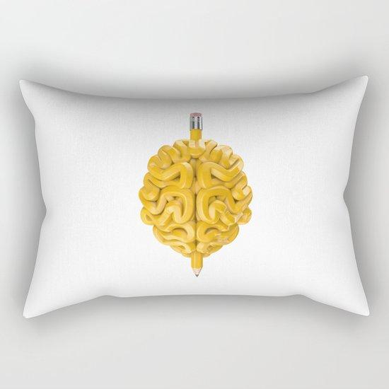 Pencil Brain Rectangular Pillow