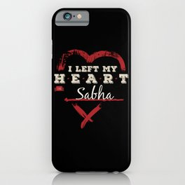 I Left My Heart In Sabha Pride iPhone Case