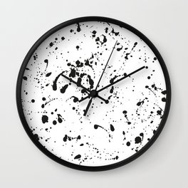 Paints Spots Black and White Wall Clock