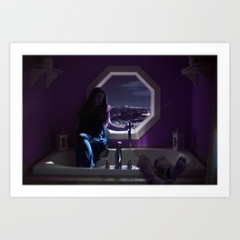 Queen of the Tub Art Print