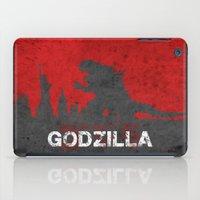 godzilla iPad Cases featuring Godzilla by WatercolorGirlArt