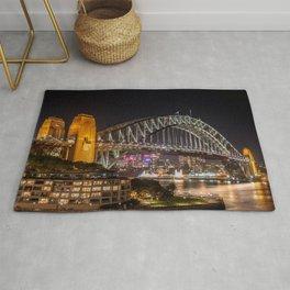 Sydney Harbour Bridge at Night Rug