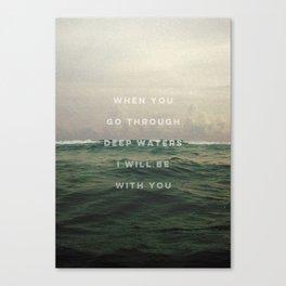 DEEP WATERS Canvas Print