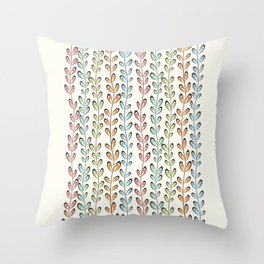 Fun colorful leaves Throw Pillow