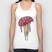 mushroom Tank Tops featuring Mushroom by Lime