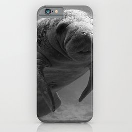 Manatee One B&W iPhone Case