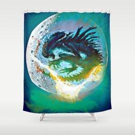 Monster Inside Egg Shower Curtain