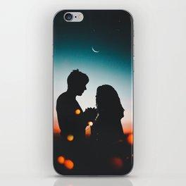 MAN - WOMAN - HANDS - LIGHTS - CIRCLES - PHOTOGRAPHY iPhone Skin