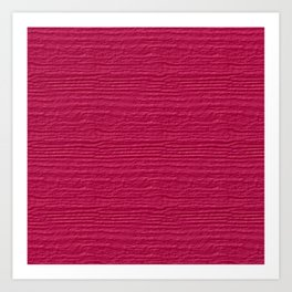 Raspberry Sorbet Wood Grain Color Accent Art Print