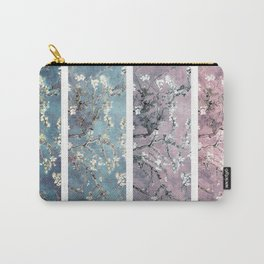 Vincent Van Gogh : Almond Blossoms Panel arT Pastel Pink Blue Teal Carry-All Pouch