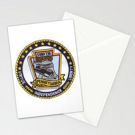 USS PENNSYLVANIA (SSBN-735) PATCH Stationery Cards