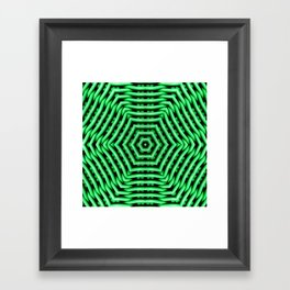 Green Kaleidoscope Weave Pattern Framed Art Print
