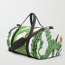 Green Simple Cacti Duffle Bag