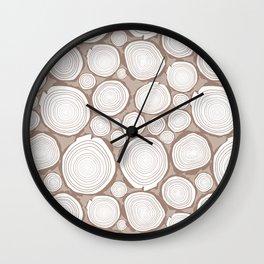 log stacks Wall Clock