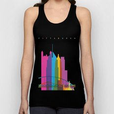 Shapes of Pittsburgh. Accurate to scale Unisex Tank Top