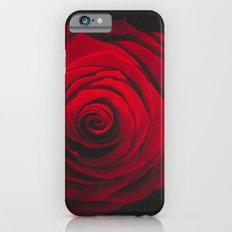 Red rose on black background vintage effect iPhone 6s Slim Case