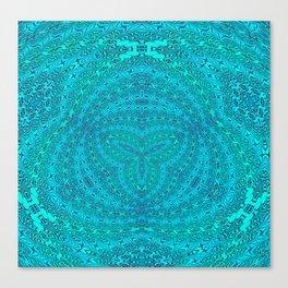 Ultra High Definition Trinity Woven Mandala Canvas Print