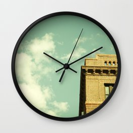 Green Skies Wall Clock