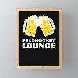 Field Hockey Beer Lounge Framed Mini Art Print