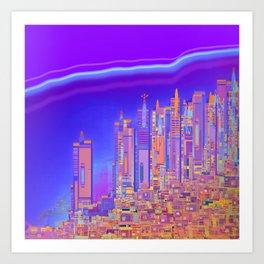 Saturnian Ultraviolet Wave Art Print