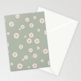 Mint Daisy Field Stationery Cards