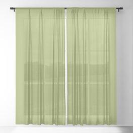 Plain Solid Wasabi Green Sheer Curtain