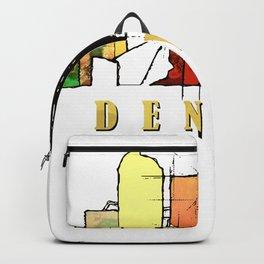 Colorful Denver Colorado Skyline Backpack